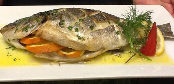 Fish Kitchen Restaurant Bantry - baked fish with orange and herbs
