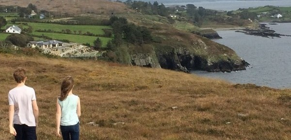 Young people walking on the Sheep's Head Way Ireland