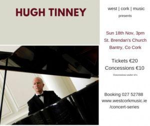 Hugh Tinney in Concert -  A 60th Birthday Celebration @ St. Brendan's Church Bantry