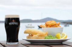 Ahakista - A pint  and fish and chips at Arundel's overlooking Kitchen Cove